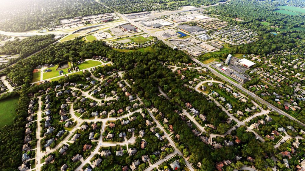 Carmel Top Areal View